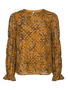 sofie-schnoor-patterned-blouse-mustard