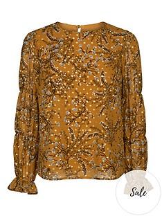 sofie-schnoor-patterned-blouse-mustard