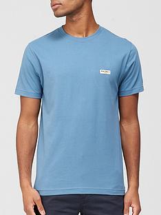 nudie-jeans-daniel-logo-t-shirt-blue
