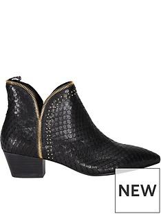 sofie-schnoor-croc-print-zip-detail-ankle-bootsnbsp--black