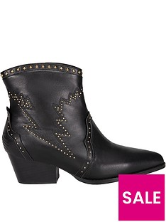 sofie-schnoor-studded-lightening-ankle-boots-black