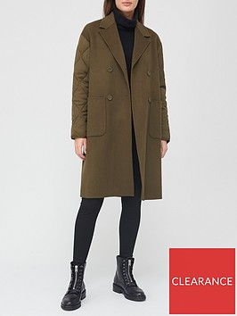 allsaints-florence-quilted-sleeve-coat-khaki