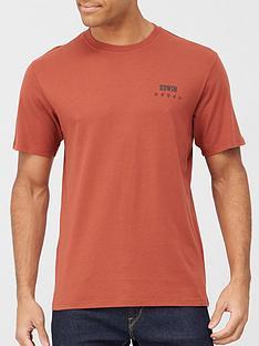 edwin-chest-logo-t-shirt-auburnnbsp