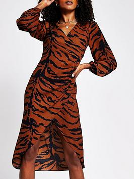 river-island-wrap-midi-dress-animal-print