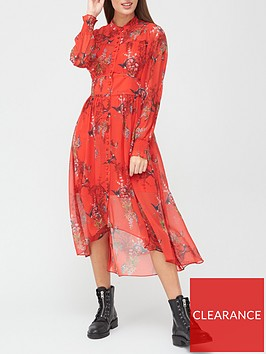 allsaints-leonie-melisma-phoenix-print-midi-dress-red