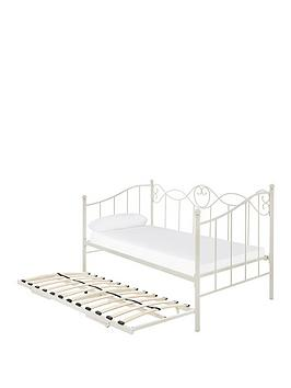 Juliette Day Bed With Trundle - Bed Frame With Airsprung Memory Foam Mattress