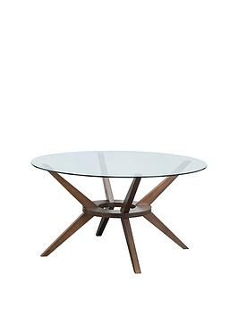 Julian Bowen Chelsea 120 Cm Round Glass Top Dining Table
