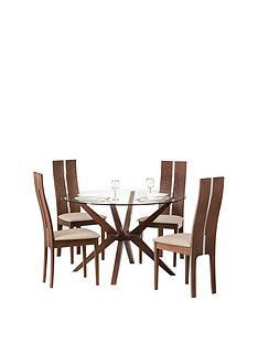julian-bowen-set-of-chelsea-glass-table-4-cayman-chairs