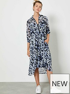 mint-velvet-audrey-animal-print-cocoon-midi-shirt-dress-blue