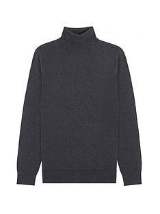 burton-menswear-london-fine-gauge-roll-neck-jumper-charcoal