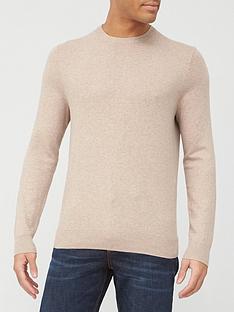 burton-menswear-london-fine-gauge-crew-neck-jumper-pink