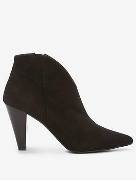 Mint Velvet Finny Black Suede Ankle Boots - Black