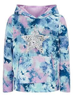 monsoon-girls-tie-dye-print-star-sequin-hoodie-blue