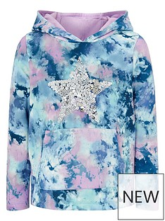 monsoon-girls-tie-dye-print-star-sequin-hoodie-blue