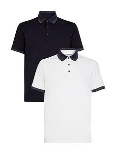 burton-menswear-london-2-pack-jacquard-collar-polo-shirts-navywhite