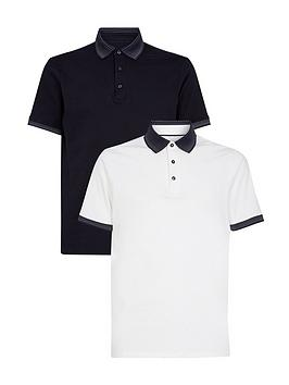 burton-menswear-london-2-pack-jacquard-collar-polo-shirts-navywhite