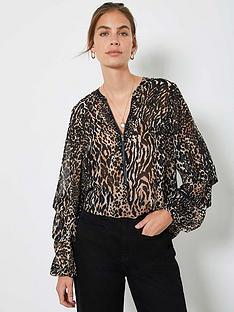 mint-velvet-faye-animal-print-zip-front-blouse-neutral
