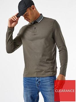 burton-menswear-london-jacquard-collar-long-sleeve-polo-shirt-khaki