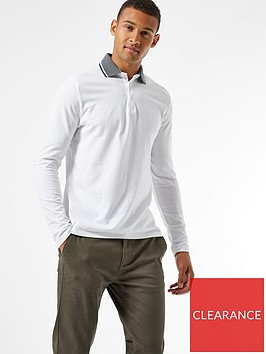 burton-menswear-london-jacquard-collar-long-sleeve-polo-shirt--nbspwhite