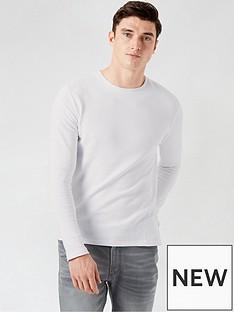burton-menswear-london-ribbed-texture-long-sleeve-shirt--nbspwhitenbsp