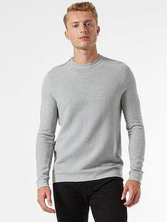 burton-menswear-london-zip-shoulder-jumper-grey