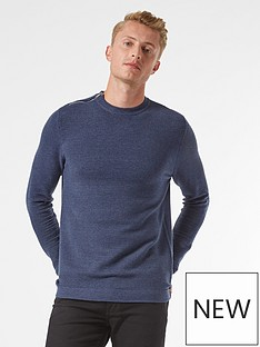 burton-menswear-london-zip-shoulder-jumper-navy