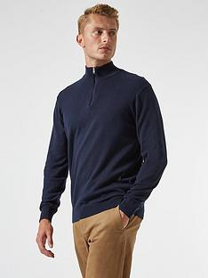 burton-menswear-london-half-zip-jumper-navy