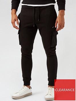 burton-menswear-london-skinny-fit-cargo-joggers--nbspblack