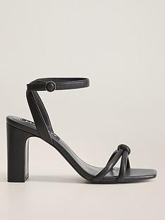 mango-square-toe-barely-there-heeled-sandals-black