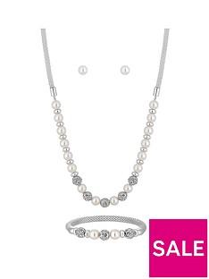 jon-richard-bliss-silver-plated-cream-pearl-ball-three-piece-jewellery-set