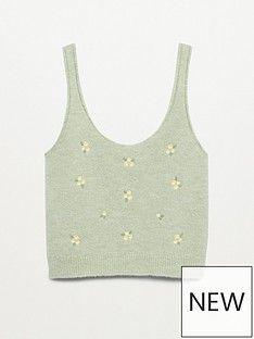 mango-floral-embroidered-knitted-cami-top-light-green
