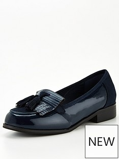 v-by-very-moe-wide-fit-tassel-loafer-navy