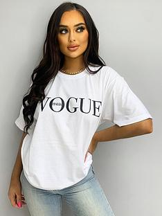 ax-paris-slogan-t-shirtnbsp-nbspwhite