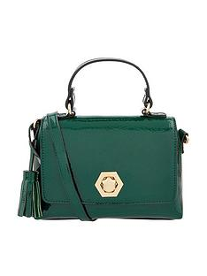 accessorize-patent-handheld-mini-bag-green