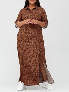 ax-paris-curve-maxi-shirt-dress-print