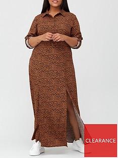 ax-paris-curve-maxi-shirt-dress-print
