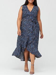 ax-paris-curve-wrap-dress-print