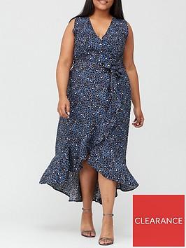 ax-paris-curve-wrap-dress-print