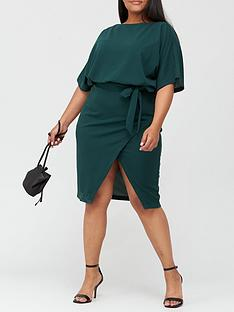 ax-paris-curve-belted-midi-dress-teal