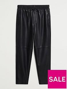 mango-punbspleather-joggers-black