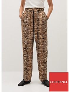 mango-wide-leg-snake-trousers-brown
