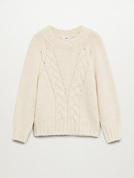 mango-cable-knit-jumper-beige