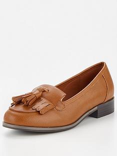 v-by-very-moe-wide-fit-tassel-loafer-tan