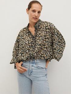 mango-vintage-floral-shirt-black