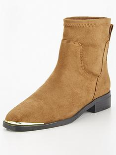 v-by-very-freya-stud-back-flat-sock-boot-taupe