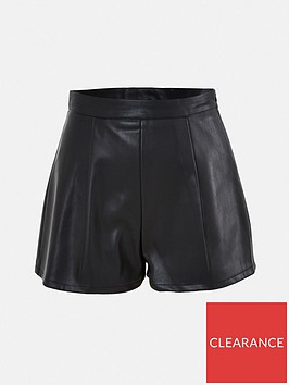 missguided-missguided-faux-leather-short-black