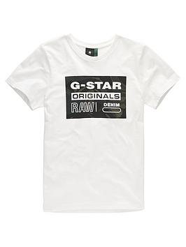 g-star-raw-boys-short-sleeve-box-logo-t-shirt-cream