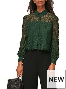 whistles-animal-lace-shirt-green