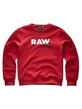 g-star-raw-boys-logo-crew-sweat-red