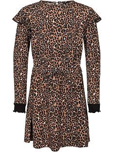 sofie-schnoor-girls-leopard-jersey-dress-brownnbsp